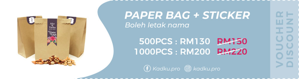 VOUCHER-PAPER BAG+STICKER